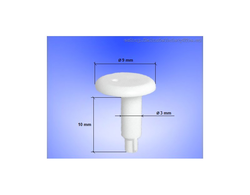 zajištění boční vodící silonové struny horizontálních žaluzií
