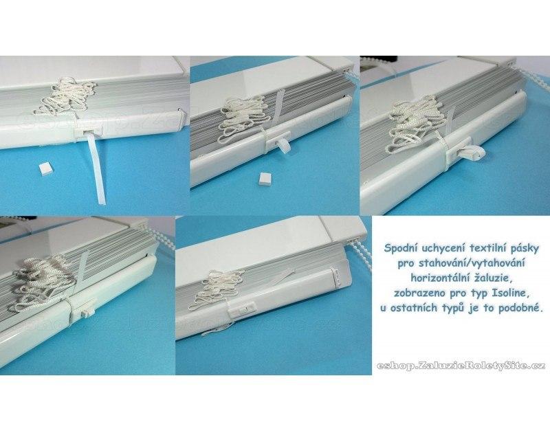 Spodní uchycení textilní pásky návod zajištění látkového provázku