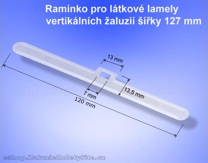 Ramínko látky vertikální žaluzie
