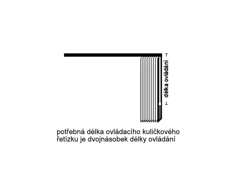 Ovládací řetízek vertikálních žaluzií