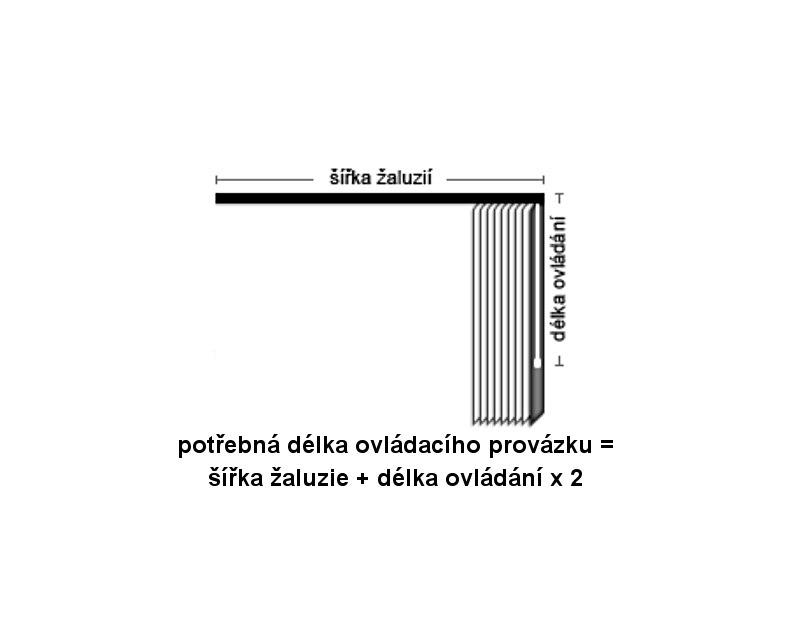 Ovládací provázek vertikální žaluzie