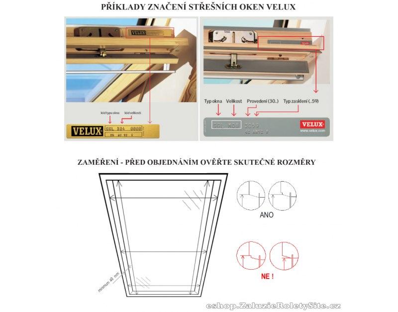 Střešní žaluzie pro střešní okna Velux