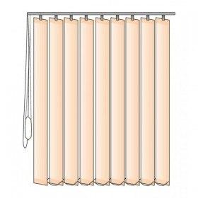 Látkové vertikální žaluzie na míru s šířkou lamel 89 mm