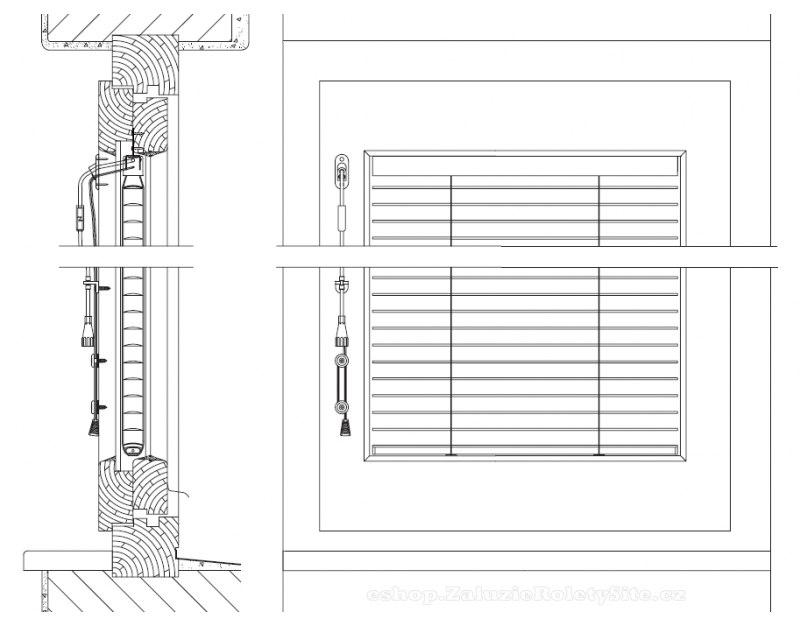 Meziskelní žaluzie do šroubovaných dřevěných oken