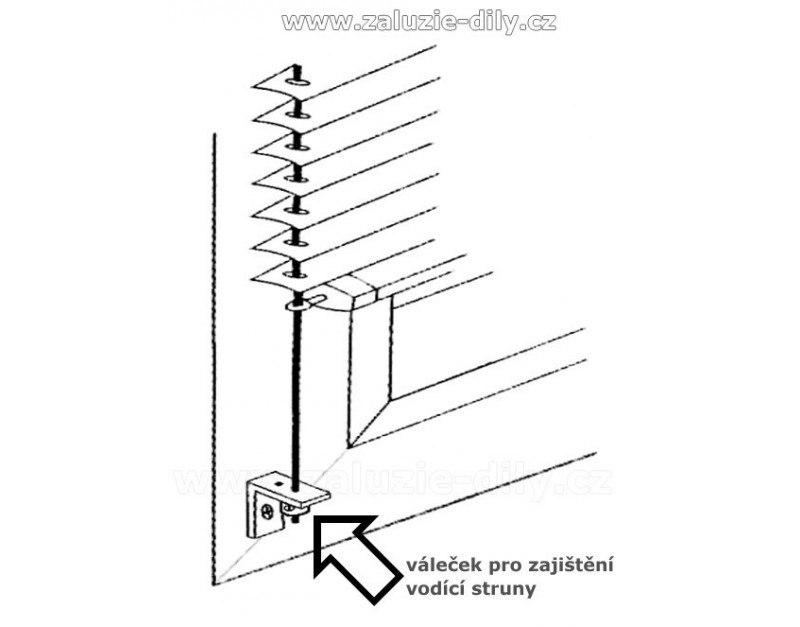 Úhelník pro uchycení vodící struny žaluzie