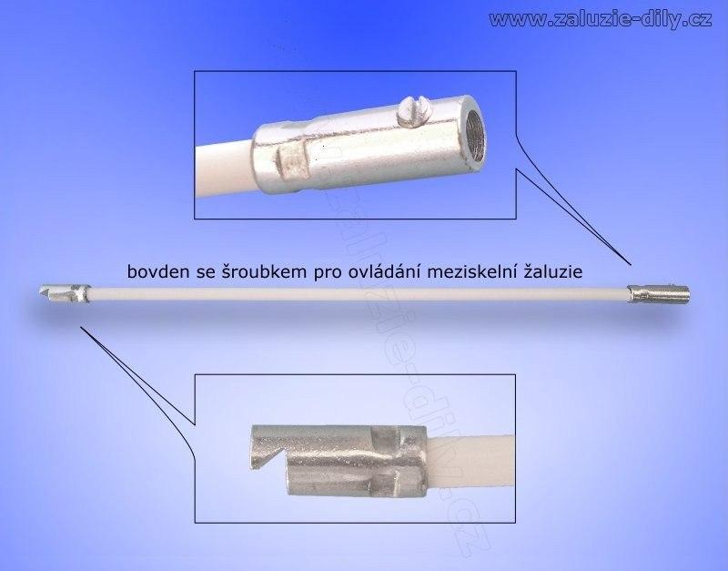 Bowden pro ovládání meziskelní žaluzie